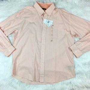 Tommy Hilfiger Men's Shirt Orange Stripe L/S